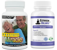 save money when you buy Prostate Miracle and Estrogen Balance together